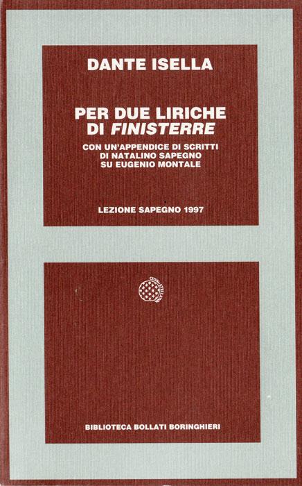 Giornata Sapegno 1997: Lezione magistrale di Dante Isella
